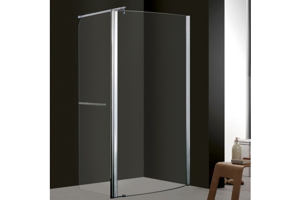 Ecran de douche à l'Italienne avec porte pivotante