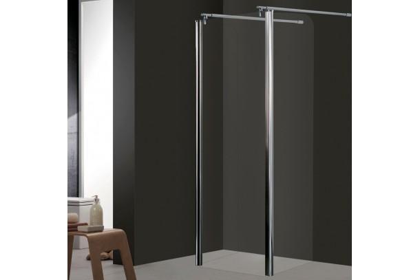 ecran de douche cristal avec 2 d flecteurs. Black Bedroom Furniture Sets. Home Design Ideas
