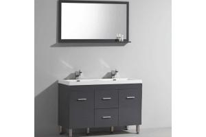 Ens KLASSYK Meuble à poser double vasque et Miroir