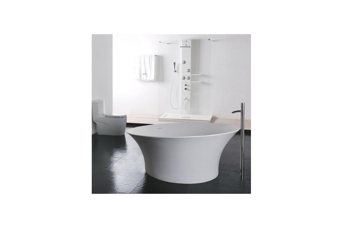 baignoire ilot ronde en solid surface florena. Black Bedroom Furniture Sets. Home Design Ideas