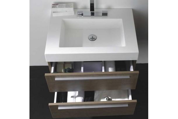 Meuble de salle de bain SENA 69 cm, chene brun