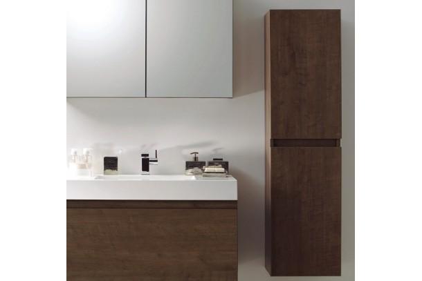 Colonne de salle de bain 2 portes 1500mm chene brun
