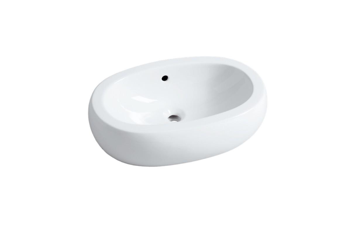 Vasque En C Ramique Blanche Chamade Ovale