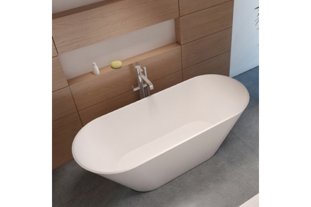 Baignoire ilot BARCELONA Solid Surface blanc