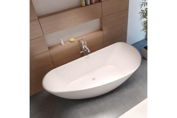 Baignoire ilot GRANADA 190 Solid surface avec robinetterie