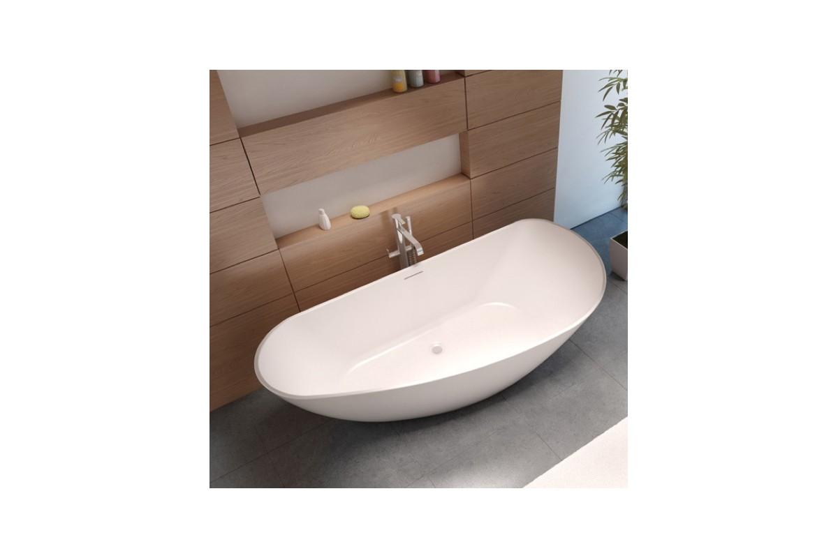 Baignoire ilot granada 190 solid surface riho for Ma salle de bain design