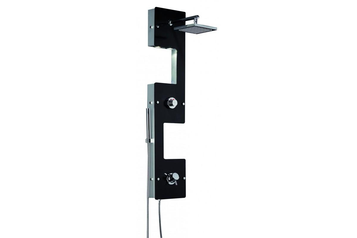 colonne de douche noire design calisto