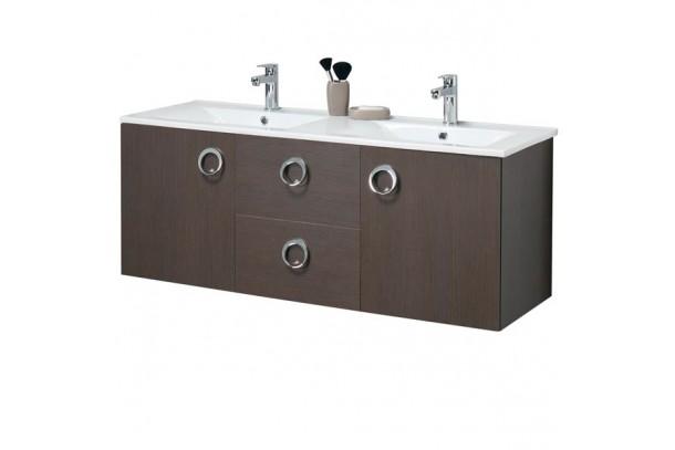 meuble de salle de bain 120 cm suspendu double vasque kyno. Black Bedroom Furniture Sets. Home Design Ideas