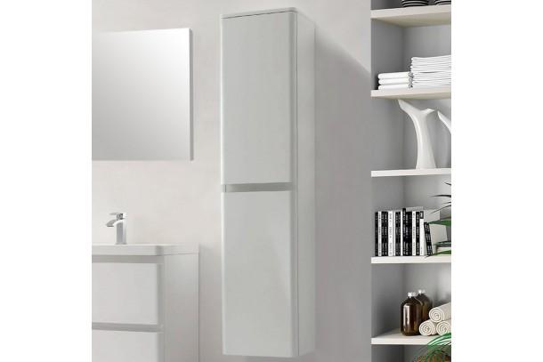 Colonne de salle de bain 2 portes 170cm blanc laque