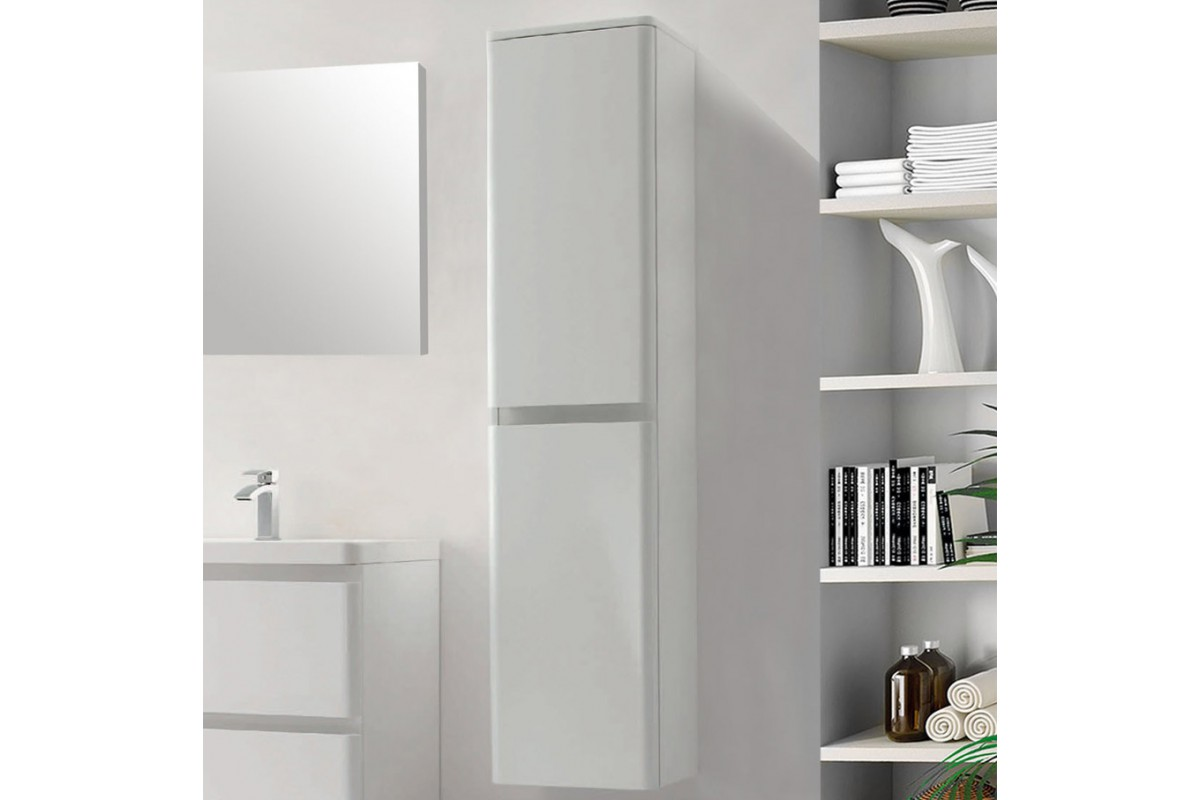 colonne de salle de bain 2 portes de 1700 mm blanc laqu. Black Bedroom Furniture Sets. Home Design Ideas