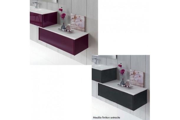 meuble de salle de bain caisson sans vasque ottobel plan solid surface. Black Bedroom Furniture Sets. Home Design Ideas