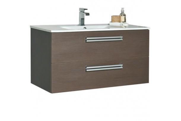 Meuble salle de bain ORZO 90 suspendu moka