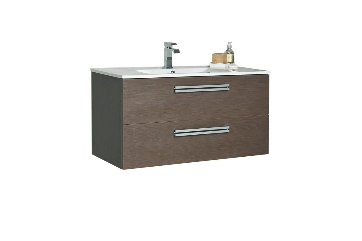 Meuble De Salle De Bain Orzo 90 Cm Suspendu Simple Vasque