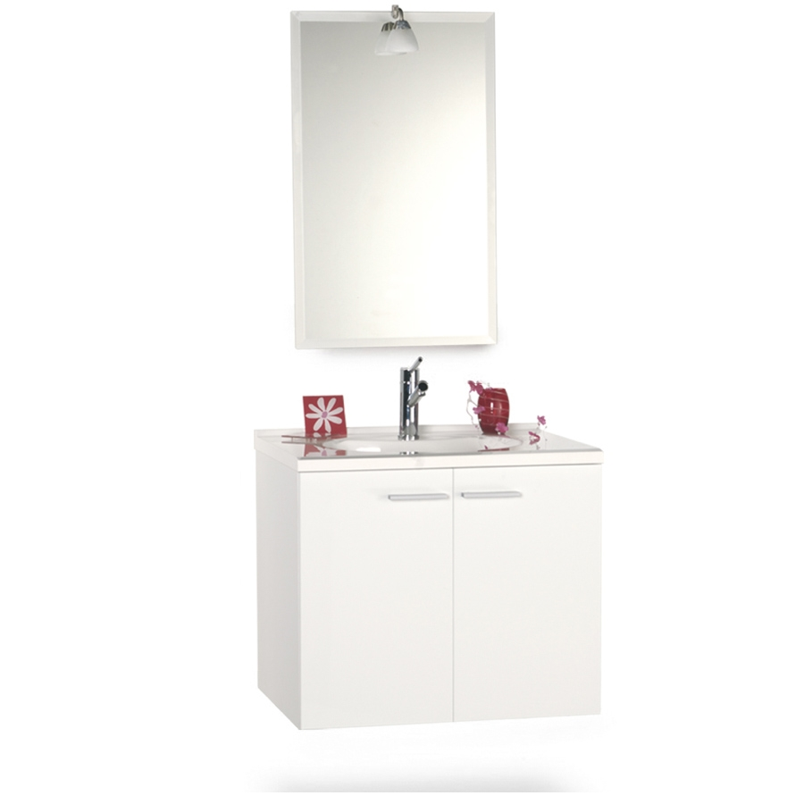 Meuble de salle de bain 70 cm suspendu simple vasque MILANO ...