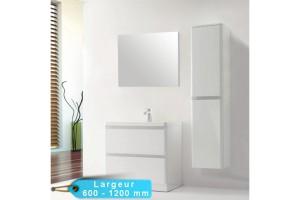 Kit meuble salle de bain RONDO et miroir