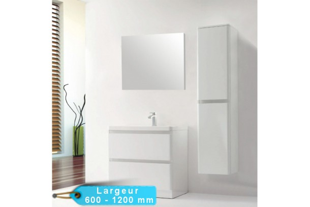 ensemble meuble de salle de bain au sol rondo avec son miroir en 60 90 120 cm. Black Bedroom Furniture Sets. Home Design Ideas