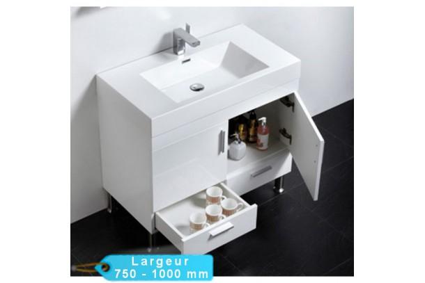 Ens meuble simple vasque poser KLASSYK et miroir