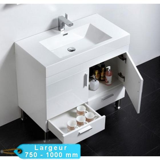 Meuble De Salle De Bain Simple Vasque À Poser Klassyk Cubique Avec