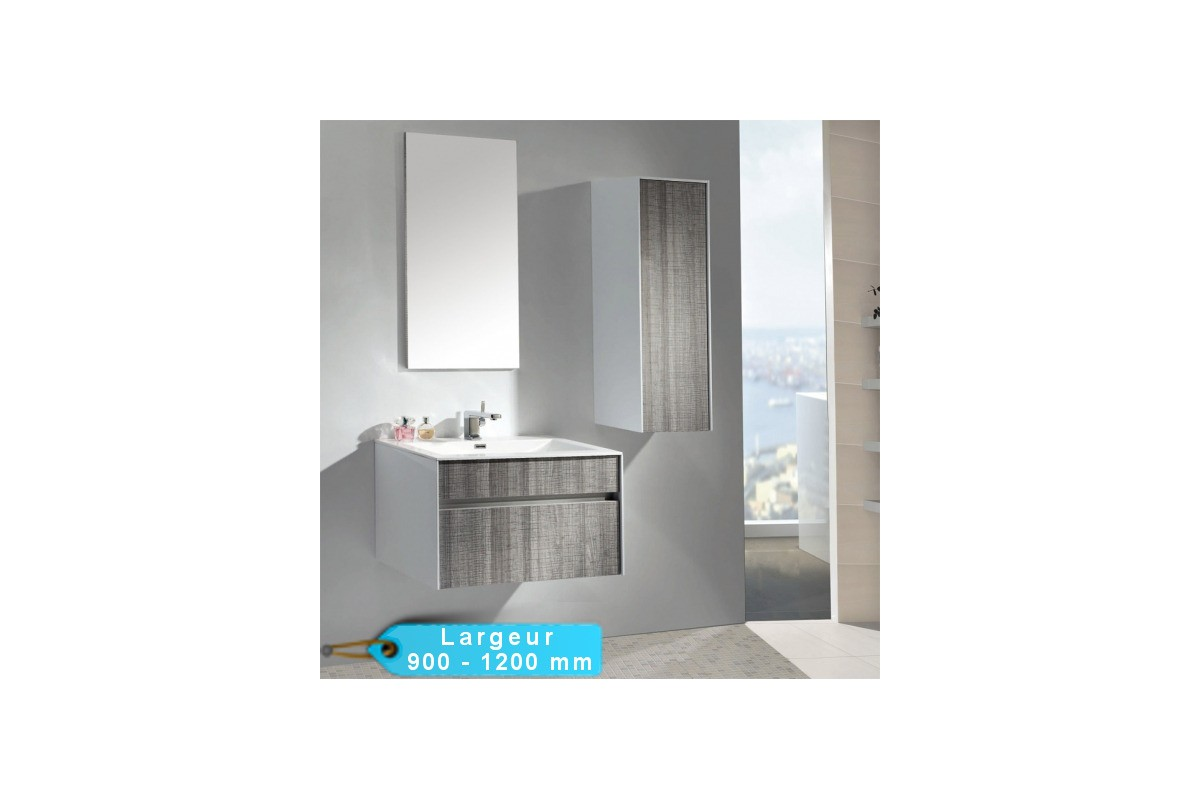 meuble de salle de bain suspendu astree 90 et 120 avec vasque blanche. Black Bedroom Furniture Sets. Home Design Ideas
