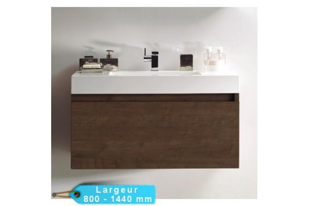 Meuble de salle de bain TOKY Chêne brun