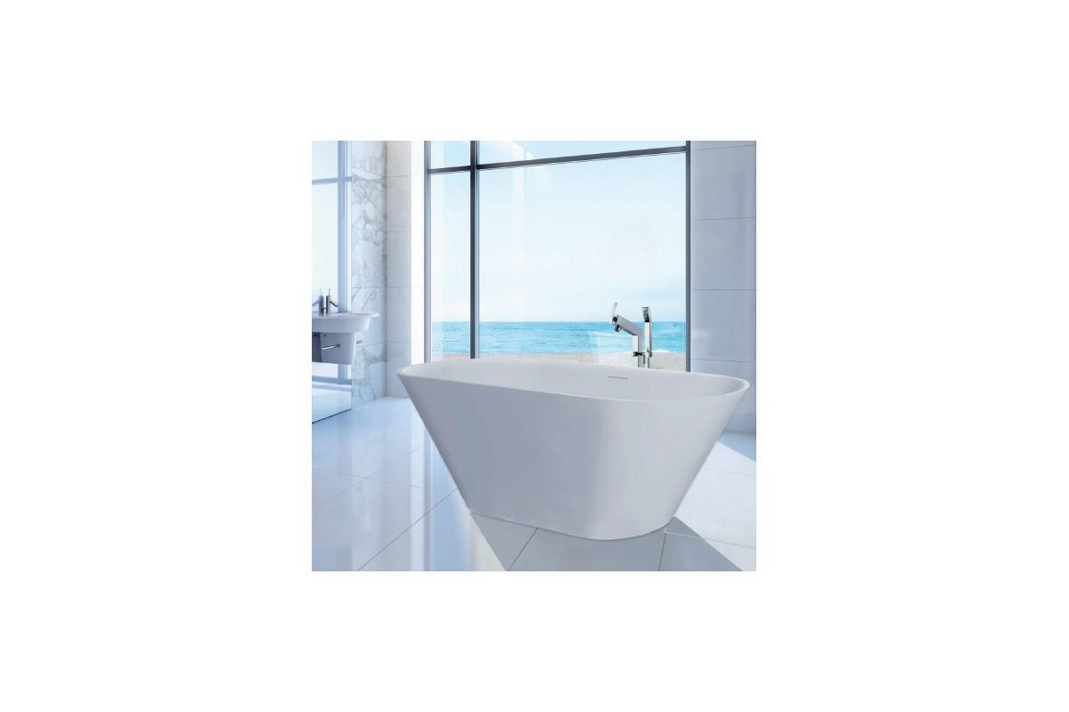 Baignoire ilot ambre solid surface for Ma salle de bain design