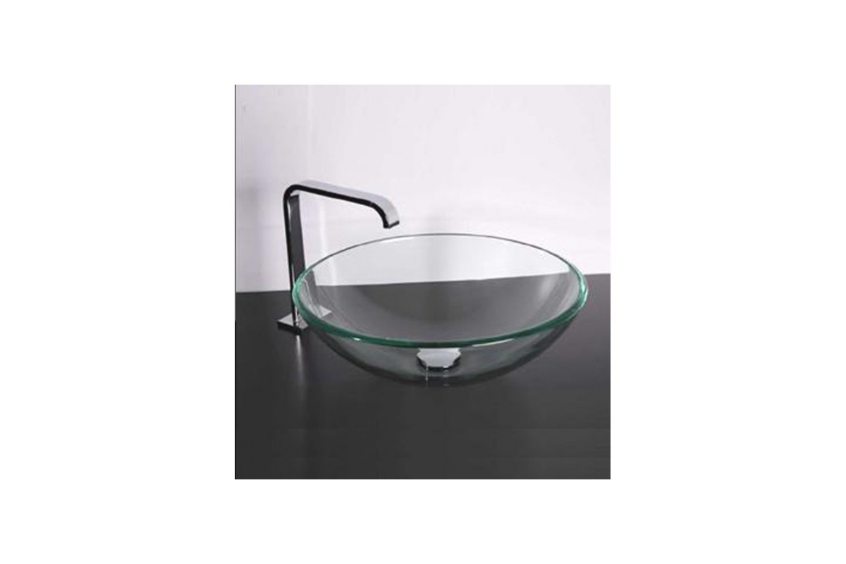 Vasque en verre tremp plan vasque color with vasque en for Plan double vasque salle de bain verre