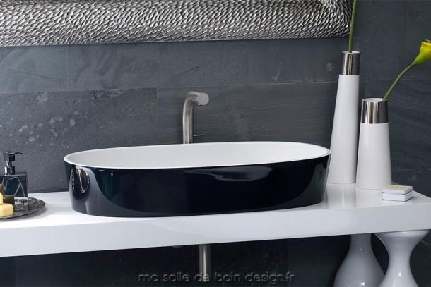 Vasque IOS 80 - grande vasque ovale pour salle de bains
