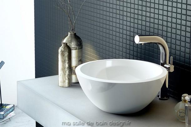 Vasque circulaire moderne évasée de belle profondeur, Victoria + Albert