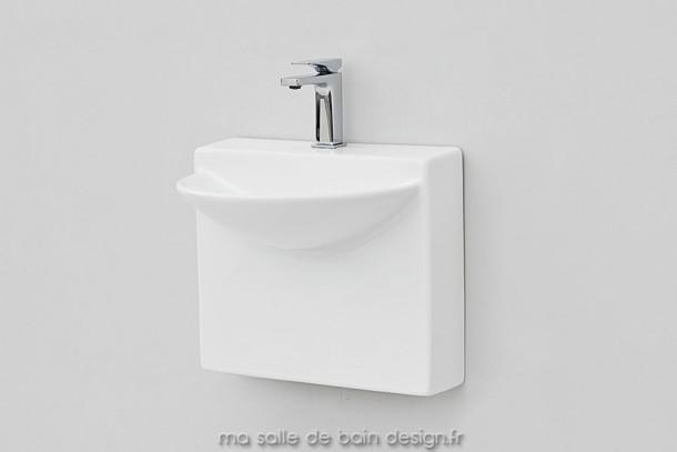 Petite vasque murale en céramique Wall Mini d'Artceram