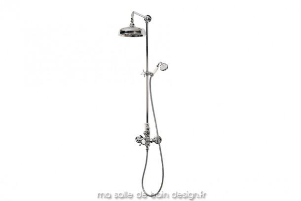 Colonne de douche murale thermostatique Rétro avec douchette Stafforshire 20