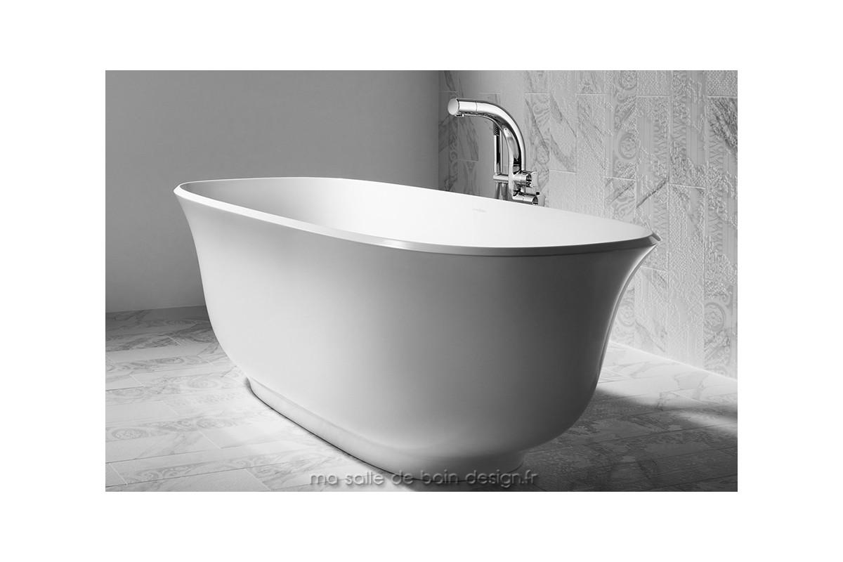 Baignoire ilot moderne amiata aux superbes lignes courbes - Salle de bain ilot ...
