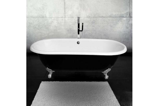 Baignoire ancienne en fonte ROSENHEIM blanche noir