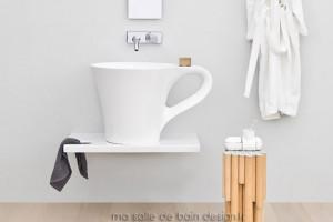 Vasque Cup blanche