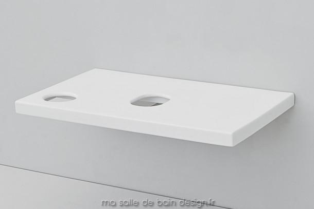 Plan pour vasque à poser en céramique Breakfast d'Artceram 75x45cm