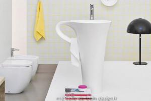 Vasque Colonne Cup Blanche