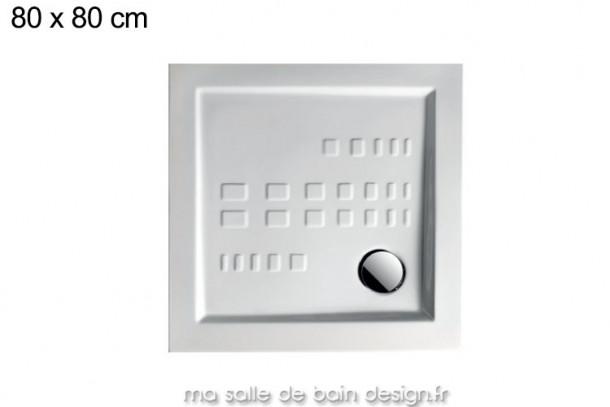 Receveur extra plat carré 80x80cm PDQ006