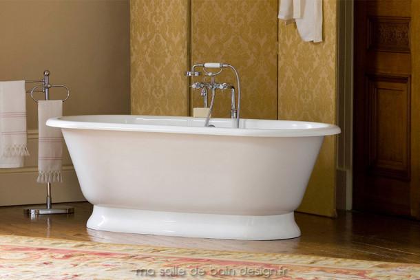Baignoire ilot york de la marque victoria albert for Marque de baignoire