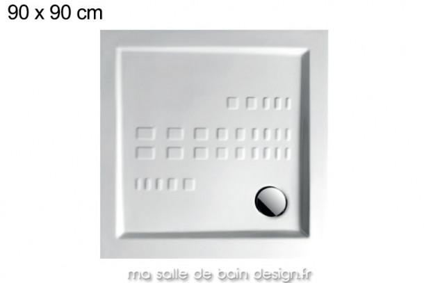 Receveur extra plat carré 90x90cm PDQ007