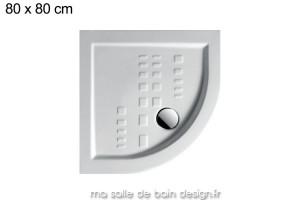 Receveur extra plat quart de cercle 80x80cm PDA005