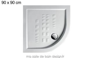 Receveur extra plat quart de cercle 90x90cm PDA006