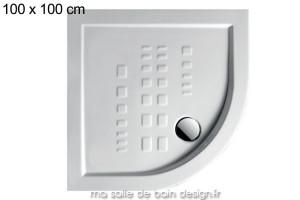 Receveur extra plat quart de cercle 100x100cm PDA007