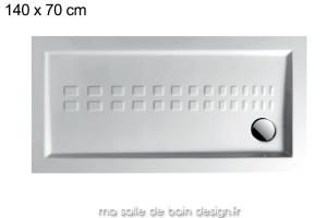 Receveur extra plat rectangle 70x140cm PDRA009