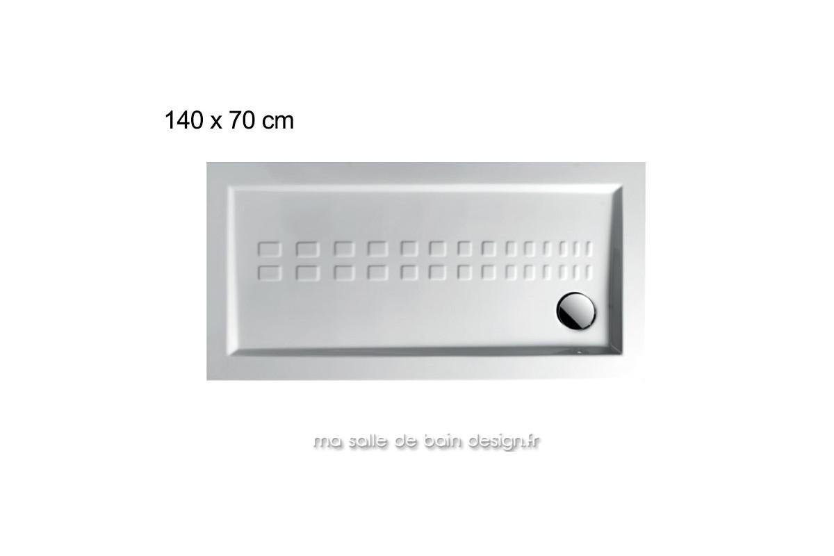 Receveur douche 140 x 70 maison design for Grand receveur de douche