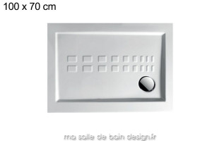 Receveur extra plat rectangle 70x100cm PDRA010
