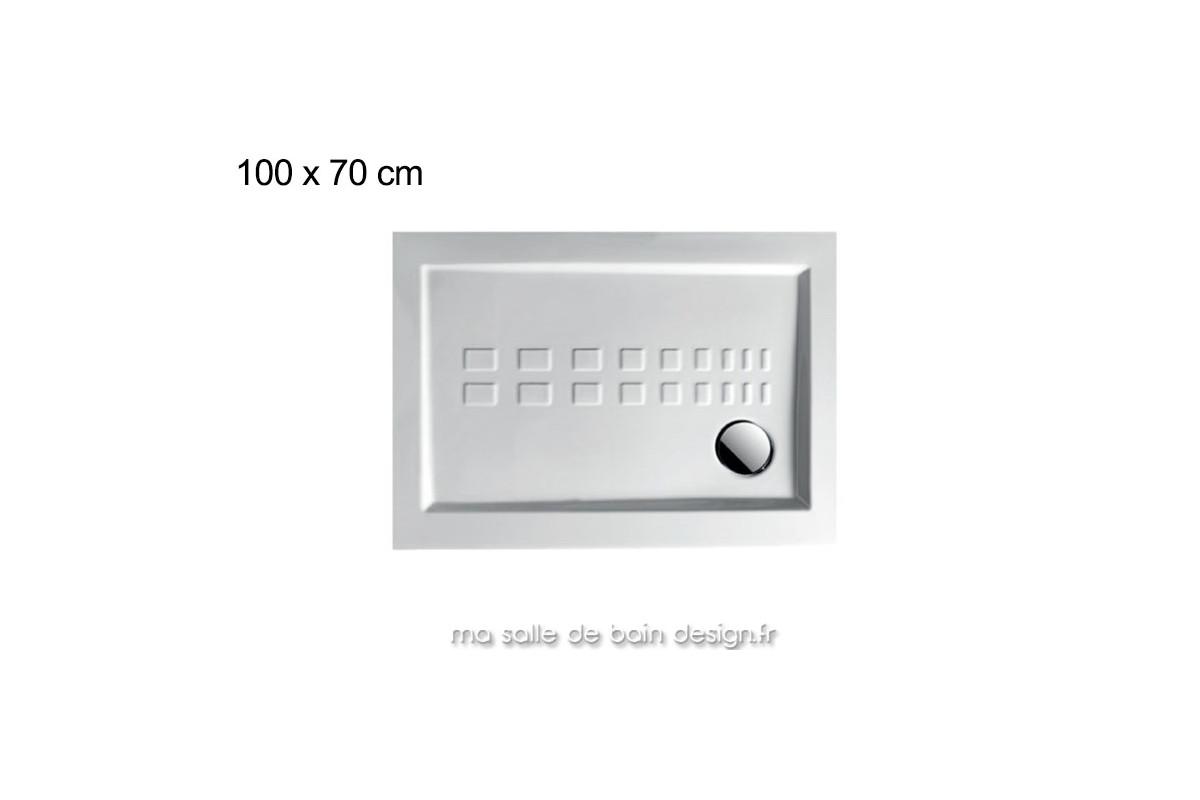 receveur de douche extra plat en c ramique 70x100 cm. Black Bedroom Furniture Sets. Home Design Ideas