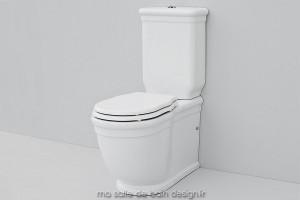 Combiné WC rétro à poser Hermitage