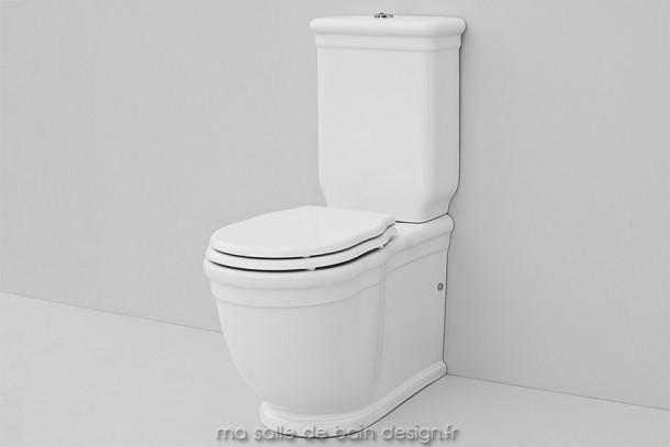 Combiné WC rétro à poser Hermitage en céramique italienne par Artceram
