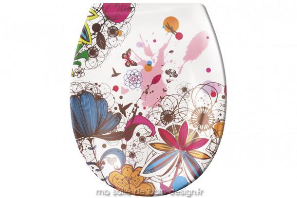 Abattant WC - à motif floral Crazy Flower - KleineWolke