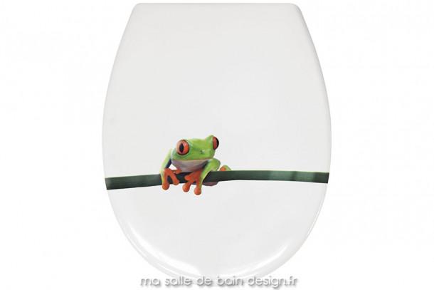 Abattant WC Charlie illustré d'une jolie petite grenouille