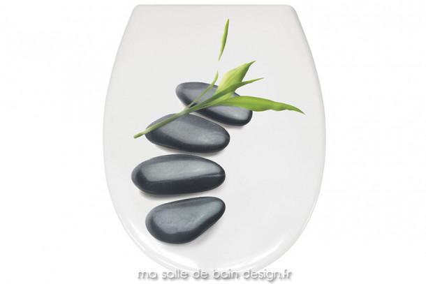Abattant WC décoratif au motif Zen